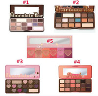 Wholesale 5 Styles In Stock With Serial Number Sweet Peach Chocolate Bar Semi sweet Love flush bon bons Eye Shadow Eyeshadow faced Makeup
