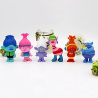 Wholesale 2016 Trolls Movie Set cm Dreamworks Figure Collectible Dolls Poppy Branch Biggie PVC Figures Doll Toy Trolls Figures Toys