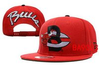 achat en gros de les taureaux en gros-Vente en gros Bulls Men's Women's Football Chicago Snapback Baseball Snapbacks basketball Flat Caps réglable Cap Sports Hat mix order