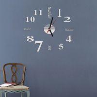abstract wall clocks - quartz watch wall clock modern design clocks reloj de pared living room acrylic abstract wall stickers new