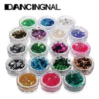 Wholesale New Colors Acrylic Hexagon Sparkly Sequin Glitter Nail Art Tips Design Tool Decoration