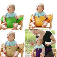 Wholesale Portable Baby Kids Chair Child High Chair Seat Belts Safety Belt Folding Feeding Dining