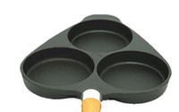 Wholesale Triangle Shape More Thicker Hole Cast iron frying Pan diameter of inch non stick with holes