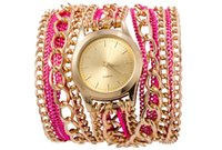 2017 reloj popular de las señoras del estilo del reloj del reloj de Ginebra de la cadena del metal