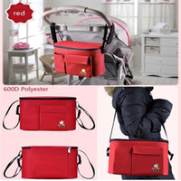 baby buggy basket - Stroller Accessory Insulation Bag Baby Diaper Bags Organizers Cup Basket Pushchair Travel Carriage Pram By Accessories