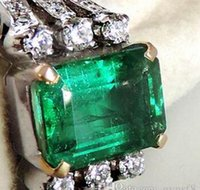 angelina jolie wedding - 4 ctw colombia emerald k white gold diamond ring angelina jolie style