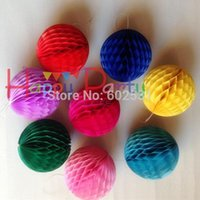 Wholesale CM Honeycomb ball Honeycomb lantern paper flowers pendant paper garland Wedding supplies holiday decorations