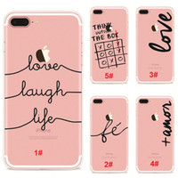 apples letter iphone - 2017 Cell phone Cases For iPhone S S Plus fashion English letters painting Cases Soft ultra thin TPU Back shell Cover DHL