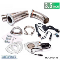 achat en gros de échappement du kit-TANSKY - Échappement électrique de 3,5 po Rétractation / E-cutout W / Switch / Remote / Switch + Remote Downpipe Cut Out Valve System Kit