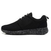 Wholesale Original Brand Rosh Run Womens and Mens roche run black and white rushe one rose ROshRun Runing Shoes Sneakers size36