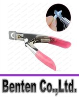Wholesale Way Acrylic False Nail Tip Clipper Cutter Edge Cutter Tips Pink Nail Clippers Trimmers LLFA