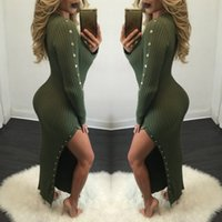 Wholesale The fall of sexy women bag hip skirt long sweater fashion dress O lost pencil skirt Neck long sleeve knitted garments