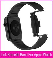 band closure - Newest Black Link Bracelet Band For Apple Watch mm Silver L Stainless Steel Watchbands With original butterfly closure