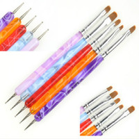 acrylic paint tips - 2 Ways Acrylic UV Gel Nail Art Design Tips Dotting Painting Brush Pen Set