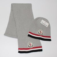 Wholesale HXF set brand Mo men women warm wool prad hat knitted Hats Scarves Sets cm