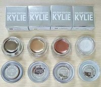 Wholesale Stock Kylie Holiday Creme Shadow Kylie Jenner Cosmetic Eyes Makeup Christmas Edition Gifts Camo Yellow Gold Golden Plum Snow Colors