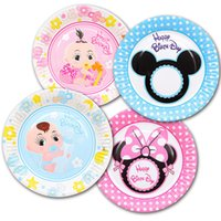 Birthday Party baby girl shower plates - Baby boy and girl Baby Shower Theme Party Paper Plates Birthday Party Supplies Party Plates