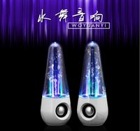 Acheter Led usb dance water-USB LED Light Laser Tumbler Roly-poly Style Dancing Water Speaker Portable Speaker pour iphone 6 PC