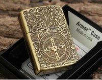 Wholesale Pure copper kerosene lighter Constantine lighter metal cigarette lighters