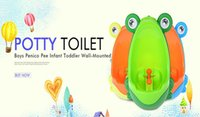 Wholesale Portable Baby Potty Toilet Training Frog Children Stand Vertical Urinal Boys Penico Pee Infant Toddler Wall Mounted Urinals
