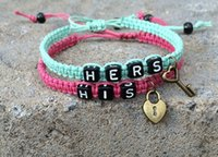 bar tokens - Romantic Multi Styles quot HERS HIS quot Lovers Bracelet with Key Lock for Valentine s Day Gift Girlfriend and Boyfriend Token of Love