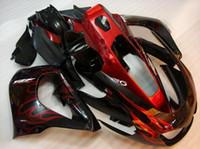 al por mayor carenados thunderace yamaha-Nuevos kits calientes del carenado del ABS cabidos para YAMAHA Thunderace YZF1000R 1996 1997 1998 1999 2000 2001 2002 2003 2004 2005 2006 2007 llama negra y roja