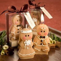 Wholesale Wedding wedding supplies Christmas birthday candles and romantic ideas in return send friends gingerbread man presents on Christmas Eve