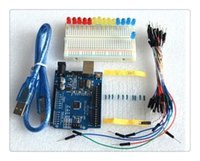 Wholesale new Starter Kit UNO R3 mini Breadboard LED jumper wire button for arduino compatile