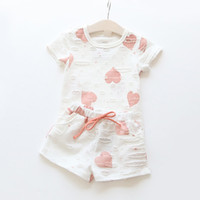 Wholesale Fashion New summer girl clothing set children girl piece pattern children set vestidos