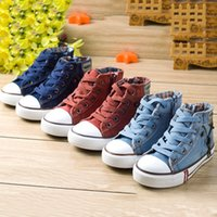 anti slippery floor - Children Boys Girls Canvas Shoes Bule Red Lace up Solid Anti Slippery Sneakers for Sports Casual Shoes Christmas Gift