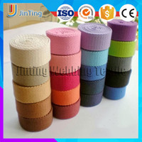 Wholesale 20mm DIY Cloth Cotton Plain Thickening Knitted Ribbon Webbing for Bag Sewing Notions Knapsack Belt