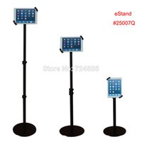 android lock - quot Android tablet floor lock stand secure kiosk height adjustable display on retail store or bank