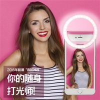 battery operated spotlights - LED Selfie Ring Light Flash Spotlight Circle Round Lamplight Enhancing Photography for iphone plus S7 with Battery Operated