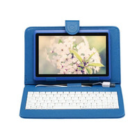 Wholesale US STOCK iRULU quot Tablet PC RK3126 Quadcore IPS G G Dual Cameras Android4 Bluetooth Tablets With inch Keyboard Case