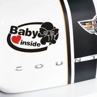 auto acessories - New cm Cute D Baby Inside Car Stickers Car Styling Vinyl Decal Tail Sticker For Auto Acessories Decoration Warning Sticker
