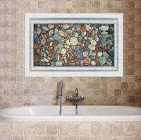 bathroom stone walls - MJ8031C D Irregular Stone Stickers Creative Decorative Wall Sticker Affixed Bathroom Waterproof Resistant