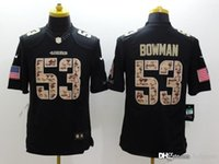 Wholesale 49ers Hot New Arrivals New Mens Elite Bowman Salute To Service Black Football Jerseys Free Drop Shipping holypote