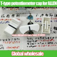 allen alloys - new white pearl console mixer T type potentiometer fader knob cap for ALLEN L24MM W11MM H10MM hole length MM