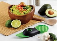 avocado pulp - Avocado Cut Fruit Device Shea Butter Knife Pulp Separator Three in Fruit Knife Avocado Plane Tools Safely Creative Kitchen Gadgets