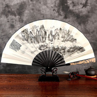 antique style curtains - Manual folding fan man Chinese sub summer silk big classical craft antique silk fans folding fans A representative of the Chinese style fans