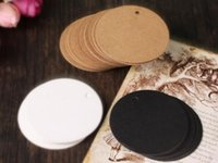 Wholesale Diameter cm Wedding Party Favor Gift Price Blank DIY Card Package Label Round Kraft Paper Hand Draw Hang Tags DHL