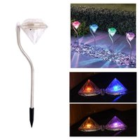 Wholesale Solar Diamond Stake Lights Led Color Changing Garden Lawn Landscape Pathway Lamps Christmas Decoration Lights
