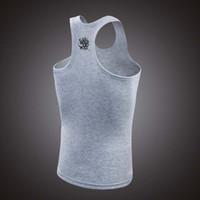 Wholesale Tank Top Men Gym Singlets Mens Tank Tops Shirt Bodybuilding Equipment Fitness Men s Gym Stringer Sports vest