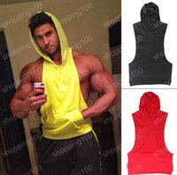 Wholesale Plain Gym Tank Top For Men Blank Bodybuilding Stringer Hoodies Sleeveless Shirt Cotton Custom Logo Gymshark Gorilla Golds Gym hight quality