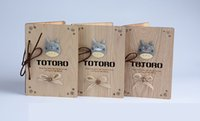 Wholesale The student diary Totoro cartoon myneighbor Totoro wooden notebook binder notepad with wooden pen set cm cm