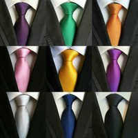 Wholesale 200 Styles Men Ties Polyester Fashion Neckties Handmade Wedding Neck Ties Business Tie Paisley Stripes Plaids Dots Solid Color Ties B16