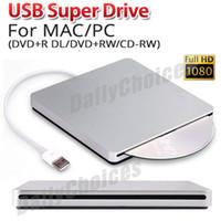 Wholesale USB External Slot in DVD CD Drive Burner Superdrive for Apple MacBook Air Pro S