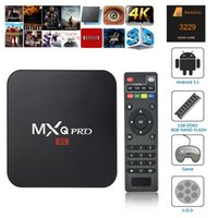 Wholesale MXQ pro K Android TV Box RK3229 Android Lollipop Quad Core GB GB Ultimate XBMC Fully Loaded Kodi box Wifi HDMI Streaming Media Player
