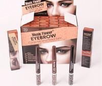 auto flowers - Music Flower Auto Eyebrow Pencils Long lasting Waterproof Eye Brow Pencil Gel Double Side Makeup Eyes Pen Colors