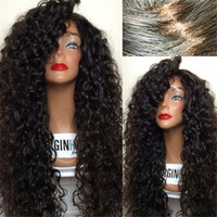 Wholesale 8A Cheap Human Hair Wigs For Black Women Brazilian Virgin Hair Wigs Deep Curly Wigs For Sale With Baby Hair